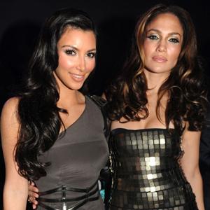 Kim Kardashian and Jennifer Lopez Show Grammy Fashion Love on Twitter