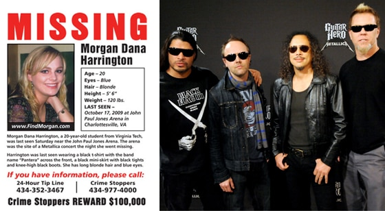Metallica, Morgan Dana Harrington, Missing Poster