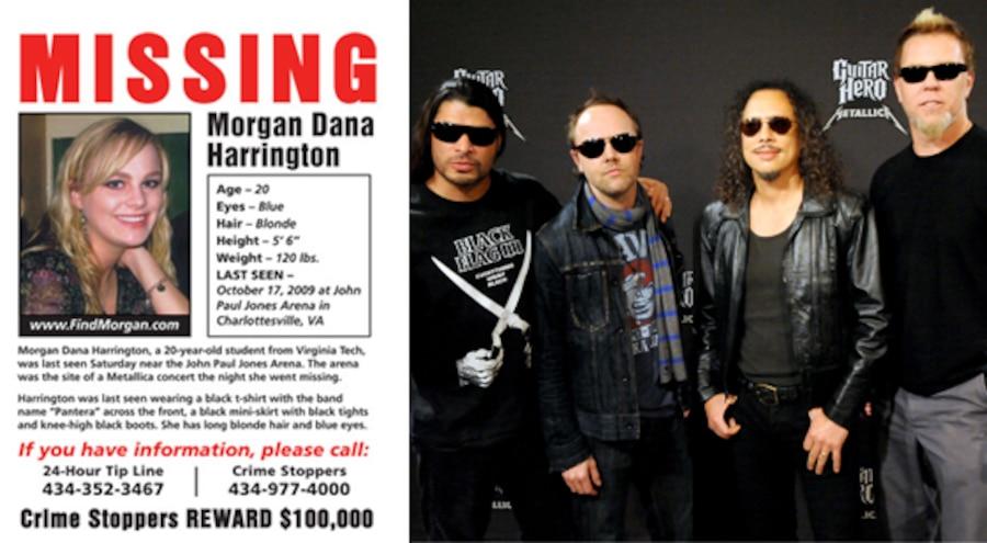 Metallica, Morgan Dana Harrington, Missing Poster