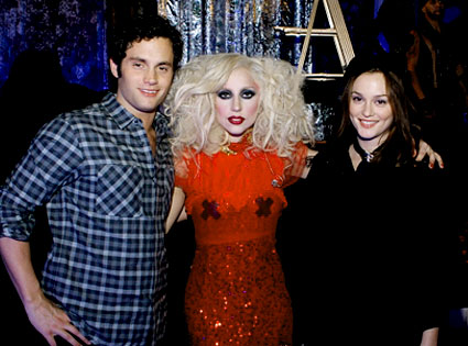 Penn Badgley, Lady Gaga, Leighton Meester