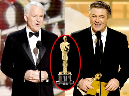 Steve Martin, Alec Baldwin, Oscar Statuette
