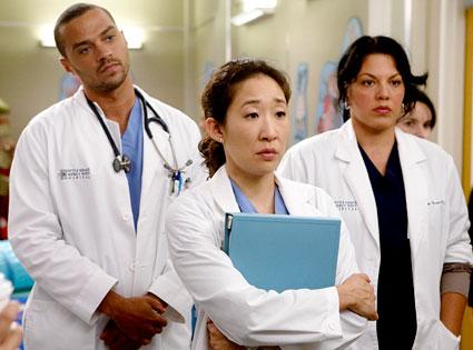 Grey's Anatomy, Jesse Williams, Sandra Oh, Sara Ramirez