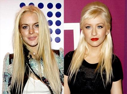 Lindsay Lohan, Christina Aguilera