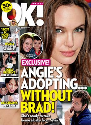 Angelina Jolie, OK Magazine, Cover