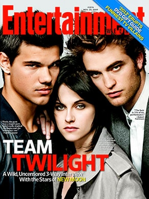 Entertainment Weekly, Cover, Robert Pattinson, Kristen Stewart, Taylor Lautner