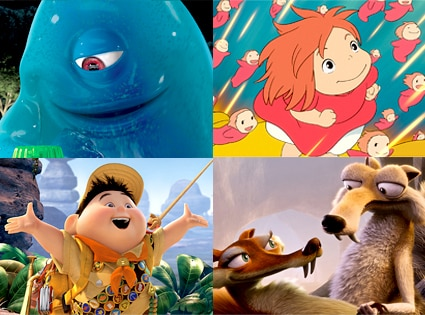 Monsters vs. Aliens, Ponyo, Up, Ice Age: Dawn of the Dinosaurs