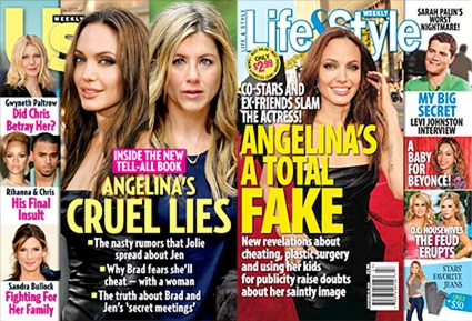 Angelina Jolie, Jennifer Aniston, US Weekly, Angelina Jolie, Life and Style, Cover