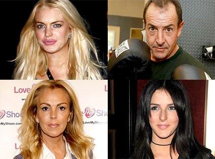 Lindsay Lohan, Michael Lohan, Dina Lohan, Ali Lohan
