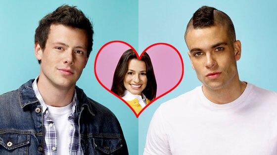 Glee, Mark Salling, Lea Michele, Cory Monteith