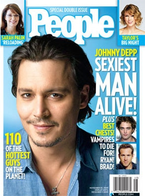 Johnny Depp, People Magazine, Sexiest Man Alive