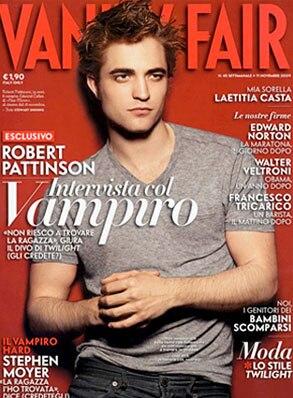 Robert Pattinson, Vanity Fair, Italy Cover
