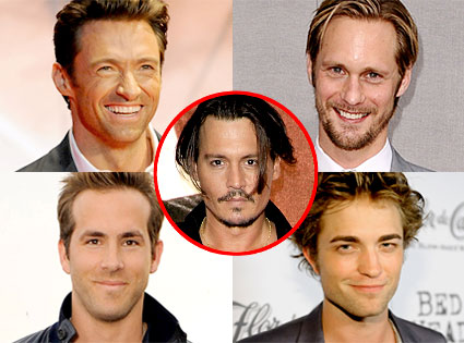 Hugh Jackman, Alexander Sarsgard, Ryan Reynolds, Robert Pattinson, Johnny Depp