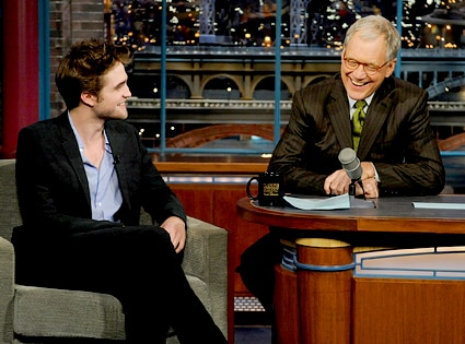 Robert Pattinson, David Letterman, Late Show with David Letterman