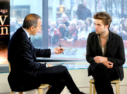 Matt Lauer, Robert Pattinson, Today Show