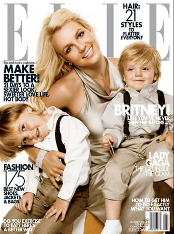 Britney Spears, Jayden James, Sean Preston, Elle Cover
