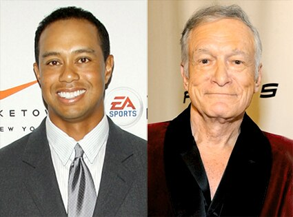 Tiger Woods, Hugh Hefner