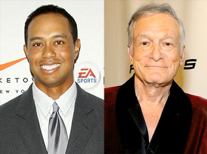 Tiger Woods, Hugh Hefner