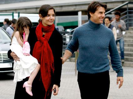 Suri Cruise, Katie Holmes, Tom Cruise