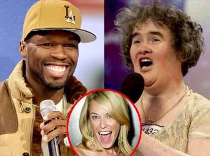 50 Cent, Susan Boyle, Chelsea Handler