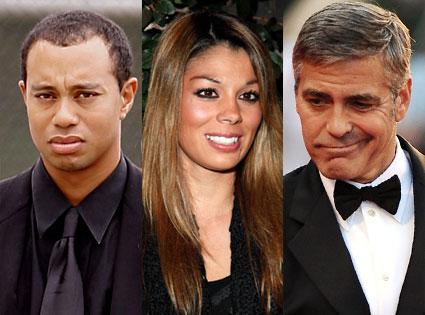 Tiger Woods, Jamie Grubbs, George Clooney
