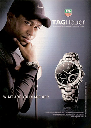 Tiger Woods, Tag Heuer, Ad