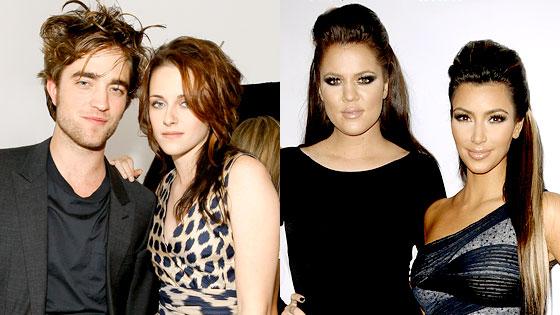 Robert Pattinson, Kristen Stewart, Khloe Kardashian Odom, Kim Kardashian
