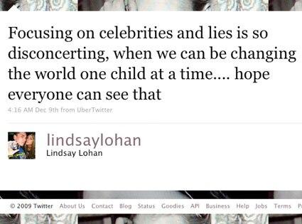 Lindsay Lohan, Twitter