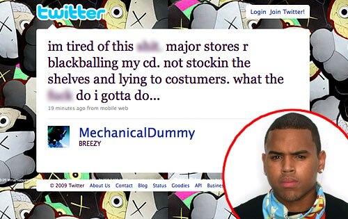 Chris Brown, Twitter