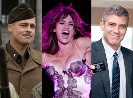 Up In The Air, George Clooney, Nine, Penelope Cruz, Inglourious Basterds, Bradd Pitt