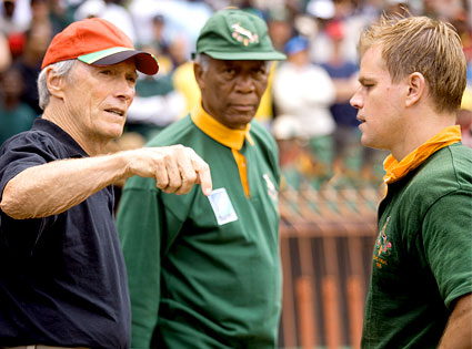 Clint Eastwood, Morgan Freeman, Matt Damon, Invictus
