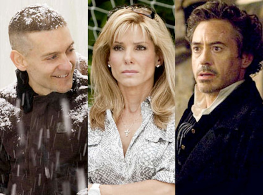 Tobey Maguire, Brothers, Sandra Bullock, The Blind Side, Robert Downey Jr., Sherlock Holmes