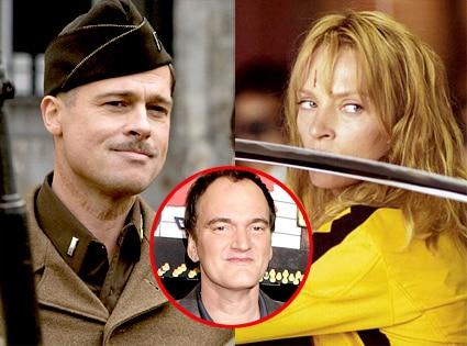 Brad Pitt, Inglourious Basterds, Uma Thurman, Kill Bill, Quentin Tarantino