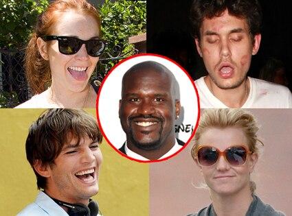 Lindsay Lohan, John Mayer, Ashton Kutcher, Britney Spears, Shaquille O'Neal