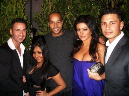 Mike 'The Situation' Sorrentino, Jenni 'J-WOWW' Farley, Nicole 'SNOOKI' Polizzi, Pauly ' Pauly D' Delvecchio, Donald Faison