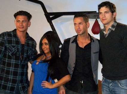 Mike 'The Situation' Sorrentino, Nicole 'SNOOKI' Polizzi, Pauly ' Pauly D' Delvecchio, Ashton Kutcher
