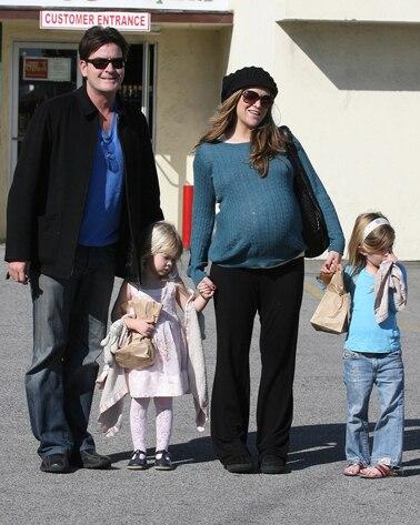 Charlie Sheen, Brooke Mueller, Sam, Lola