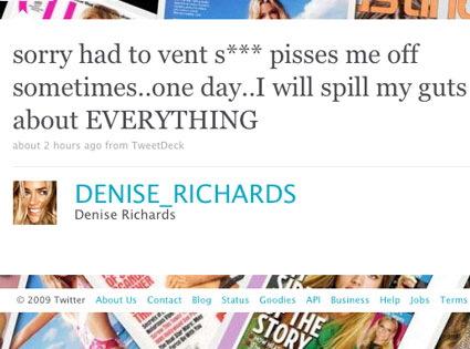 Denise Richards, Twitter
