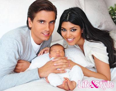 Life and Style Cover, Kourtney Kardashian, Scott Disick, Mason