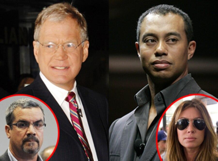 David Letterman, Tiger Woods, Robert Halderman, Rachel Uchitel