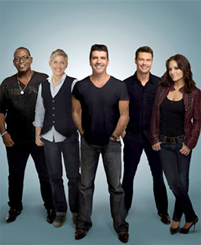 American Idol, Simon Cowell, Kara DioGuardi, Randy Jackson, Ellen Degeneres, Ryan Seacrest