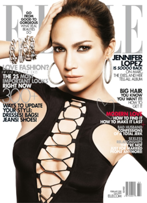 Jennifer Lopez, Elle Magazine, Cover