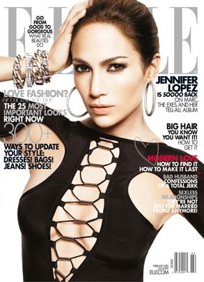 Jennifer Lopez, Elle Magazine, Cover