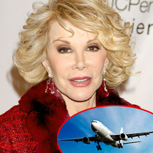 Joan Rivers, Airplane