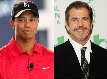 Tiger Woods, Mel Gibson