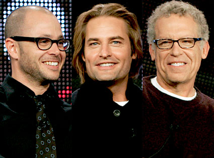 Damon Lindelof, Josh Holloway, Carlton Cuse, Lost