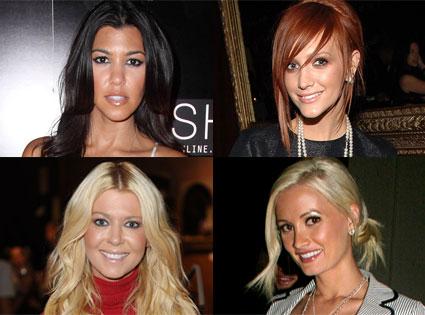 Kourtney Kardashian, Ashlee Simpson-Wentz, Tara Reid, Holly Madison