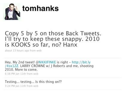 Tom Hanks, Twitter