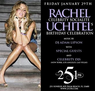 Rachel Uchitel, Birthday Invite