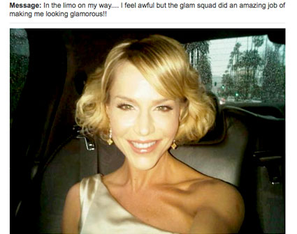 Julie Benz, Twitter