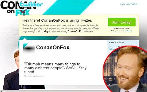 Conan O' Brien, Twitter